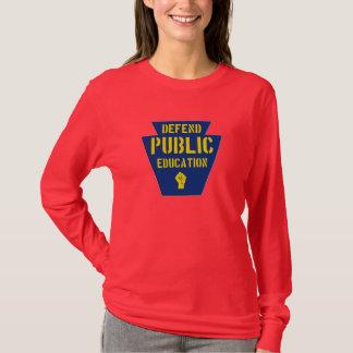 Defend Public Education in PA Dark T T-Shirt