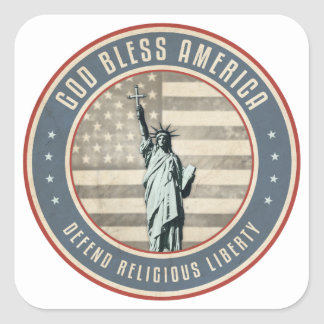 Defend Religious Liberty Square Sticker