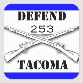 Defend Tacoma Square Sticker