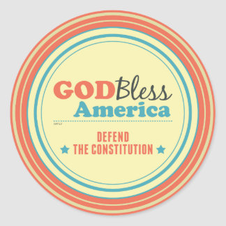 Defend The Constitution Classic Round Sticker