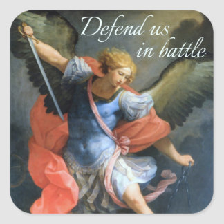 Defend Us in Battle Sticker