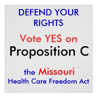 DEFEND YOUR RIGHTS, Vote YES on , Proposition C... Poster