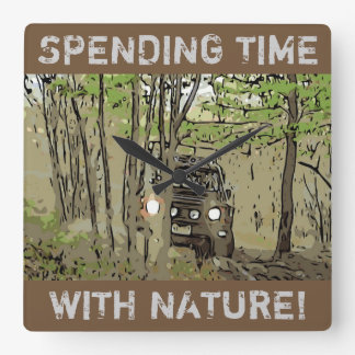 DEFENDER 90 - NATURE SQUARE WALL CLOCK