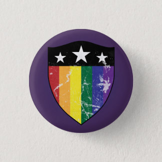 Defender Shield 01 (LGBTQIA) 1 Inch Round Button
