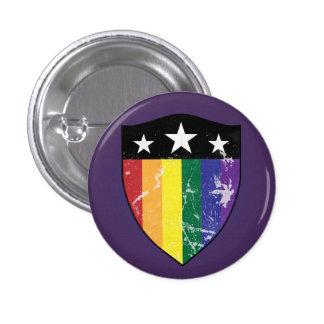 Defender Shield 01 (LGBTQIA) 1 Inch Round Button