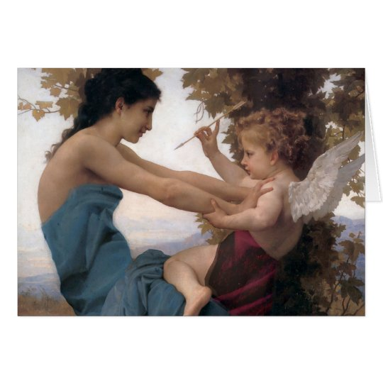 Defending a Heart Against Eros Bougereau Card