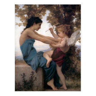 Defending a Heart Against Eros Bougereau Postcard