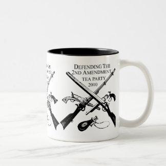 DEFENDING THE 2ND AMENDMENT Two-Tone COFFEE MUG