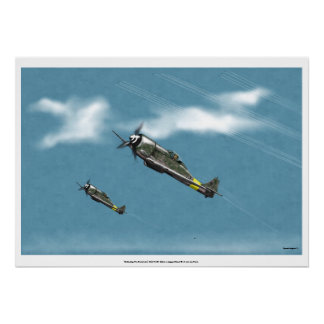 Defending the Reich Fw190 Power Climb Poster