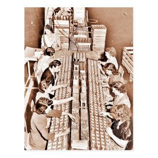 Defense Plant Assembly Line Postcard