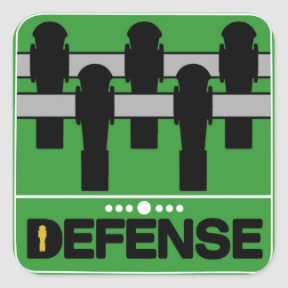 DEFENSE SQUARE STICKER