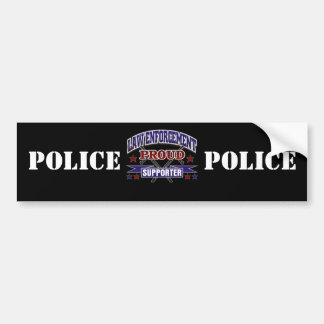 Défenseur fier de police autocollant de voiture