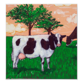 Defiant Dairy Cow Poster