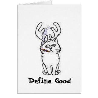 Define Good Reindeer Cat Card