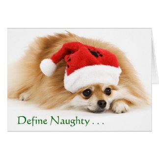 Define Naughty Christmas card