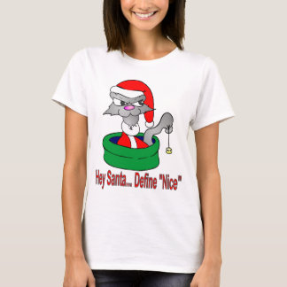 Define Nice Christmas Cat T-Shirt