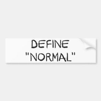 Define Normal Bumper Sticker