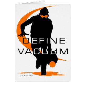 Define vacuum Orange Fielder Softball Greeting Card