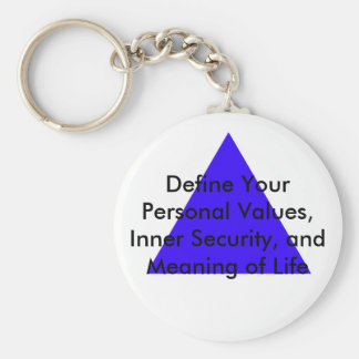 Define Your Personal Values, Inner Security Gifts Key Chains