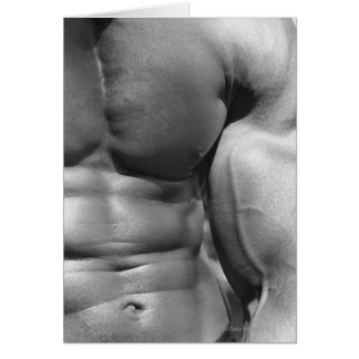 Defined abdomen and bicep card