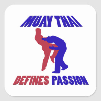 Defines Muay thai Square Sticker