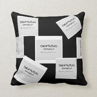 Defining Myself-UM Throw Pillow