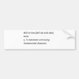 definition bumper stickers