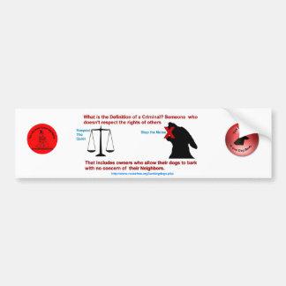 Definition of a Criminal Bumper Sticker