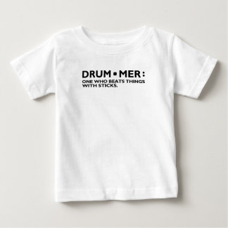 Definition of a Drummer Music Drum Sticks Rock Ban Baby T-Shirt