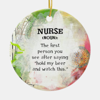 Definition of a Nurse Ceramic Ornament
