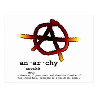 Definition of Anarchy Postcard