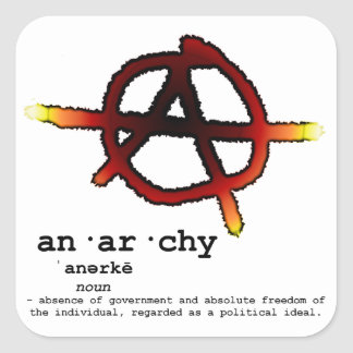 Definition of Anarchy Square Sticker