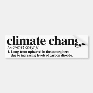 Definition of Climate Change - Resistance Bumper S Bumper Sticker