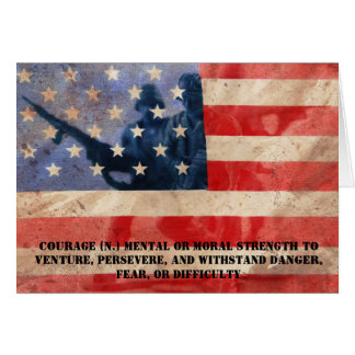 Definition of Courage Card