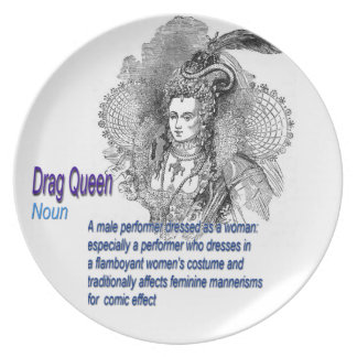 Definition of Drag Queen Party Plates