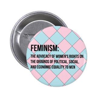 Definition of Feminism 2 Inch Round Button