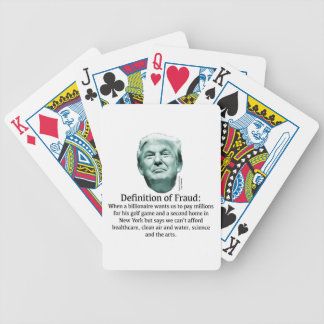 Definition of Fraud - TRUMP Bicycle Playing Cards