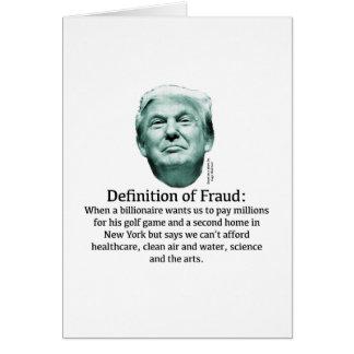 Definition of Fraud - TRUMP Card