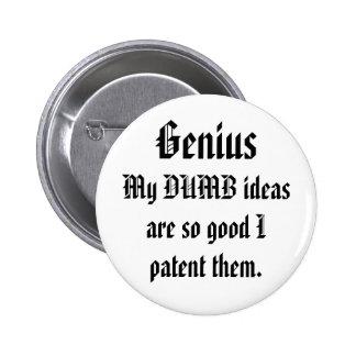 Definition of Genius 2 Inch Round Button