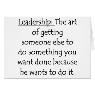 Definition of Leadership Card