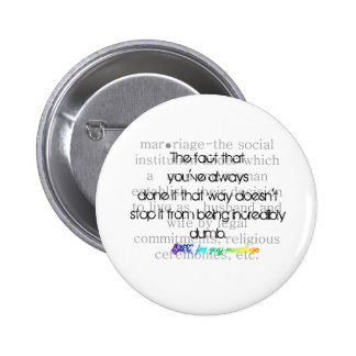 Definition of Marriage-LGBT for gay marriage 2 Inch Round Button