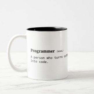 Definition of Programmer Two-Tone Coffee Mug
