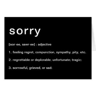 definition of sorry card