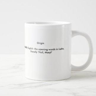 Definiton of Ave Maria Large Coffee Mug