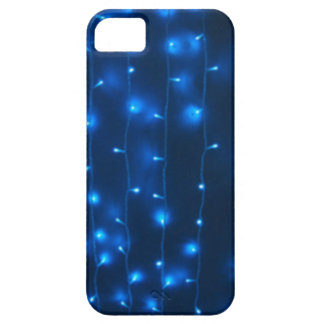 Defocused and blur image of garland of blue LED li iPhone 5 Cover