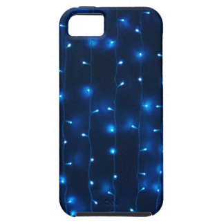 Defocused and blur image of garland of blue led li iPhone 5 covers