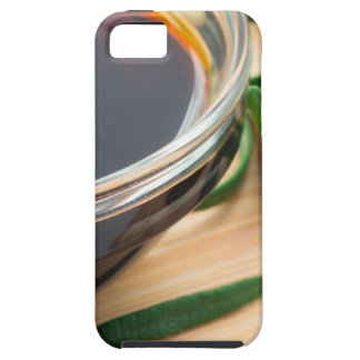 Defocused and blurred image of soy sauce iPhone 5 covers