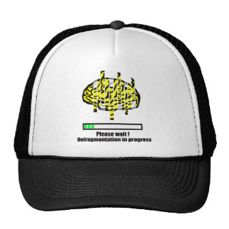 Defragmentation in progress trucker hat