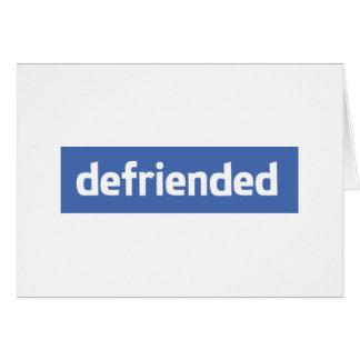 defriended card