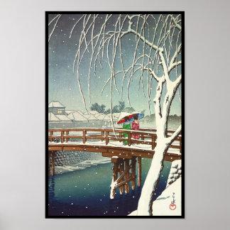 Défunte neige le long d art d hiver de Hasui Kawas Posters